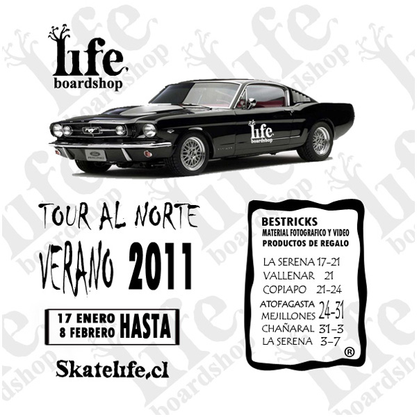 flyer tour Life Boardshop tour al norte  articulos  foto photo