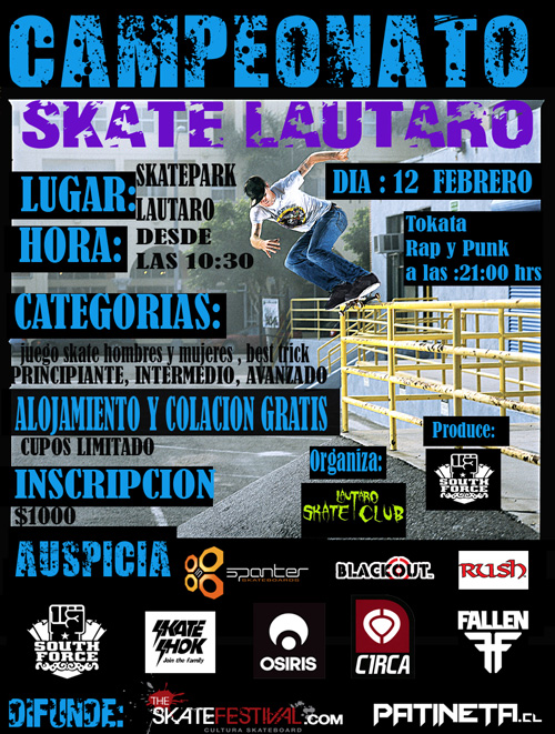 DEFINITIVO Campeonato Skate, Lautaro   IX Región eventos  foto photo