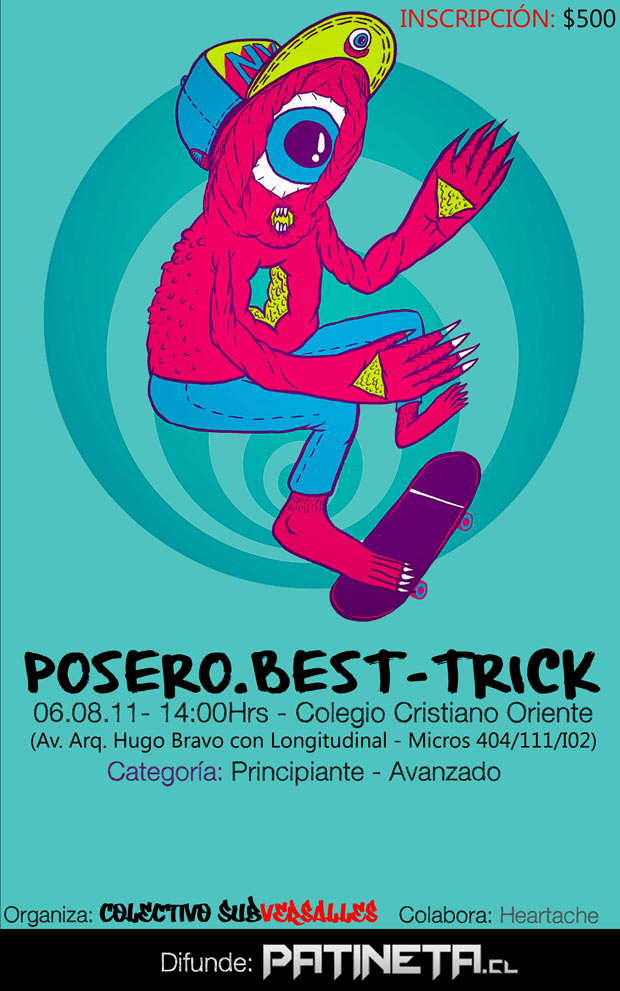 AFICHE CAMPEONATO FINALISIMO Posero   Best Trick Colegio Cristiano Oriente   Santiago. eventos  foto photo
