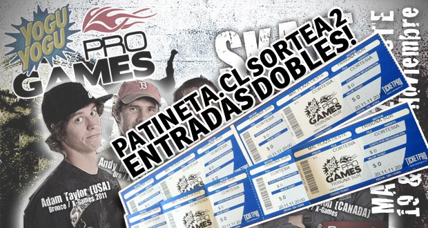 yoguyogupro sorteo ¡Patineta.cl sortea 2 entradas dobles para YoguYogu Pro Games! articulos  foto photo