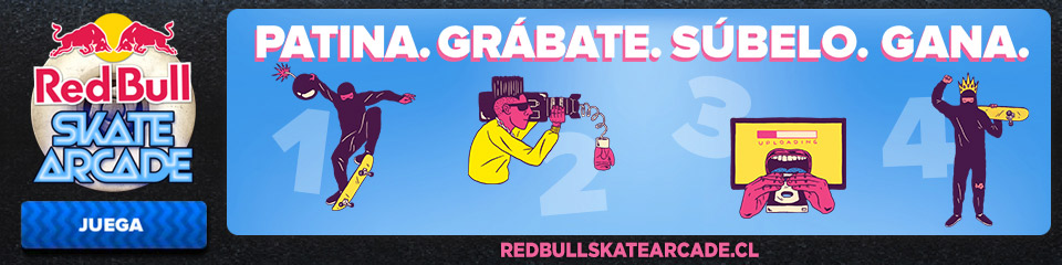 RedBull skate arcade High Fived: Maxime Geronzi videos  foto photo