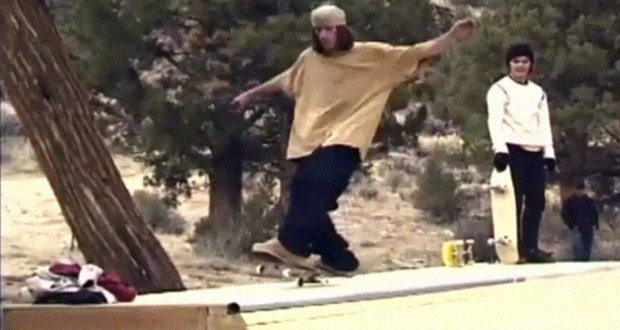 Geoff-Rowley,-Mark-Appleyard,-Pj-Ladd-y-Tom-Penny-en-una-Mini-Ramp